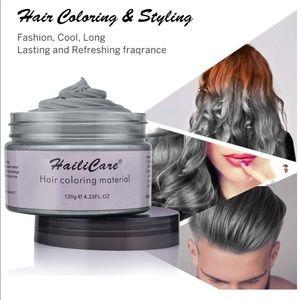 Silver Gray Temporary Hair Dye Silver Wax